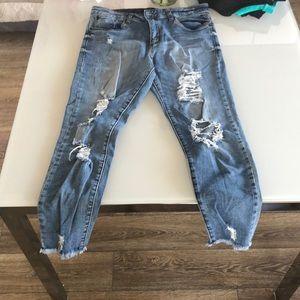 STS Blue Harper high rise crop jeans